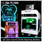 ประเทศจีน 3D Crystal Laser Inner Engraving Machine 2000HZ speed 120,000 dots / Minute บริษัท