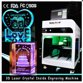 ประเทศจีน 3D Crystal Laser Inner Engraving Machine 2000HZ speed 120,000 dots / Minute โรงงาน